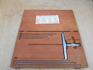 Starrett No 445 Depth Micrometer 0 9 001