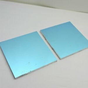 5 Thick 1 2 Precision Cast Aluminum Plate 9 75 x 9 75 Long Qty 2 Sku136786