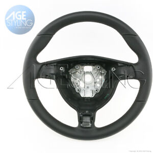 Porsche 997 911 Boxster 987 Cayman Black Leather Steering Wheel 99734780440a34