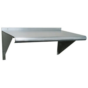 Stainless Steel Wall Mount Shelf 12 Deep