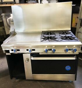 Us Range 48 4 Burner Stove W 24 Griddle Restaurant Equipment Estufa Plancha