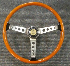 1967 Shelby Gt350 New Wood Steering Wheel Horn Button Assembly