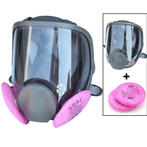 Large Full Face Mask Painting Spraying Respirator 3m 6800 2pc 2091 P100 Filters