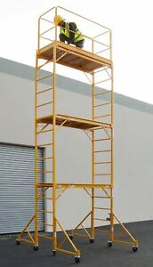 18 Ft Scaffold Tower With Safety Rail And 32 Outriggers