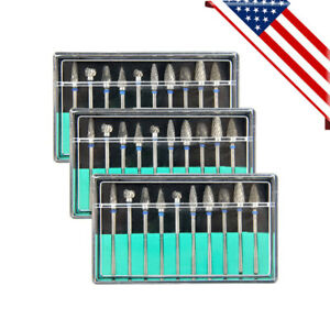 Us Ship 30pcs Dental Lab Polishing Bur Drills Tungsten Steel Carbide Burs 2 35mm