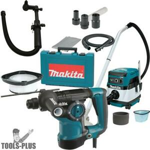 Makita Hr2811f 1 1 8 Sds Plus Rotary Hammer W hepa Vac Dust Collector New