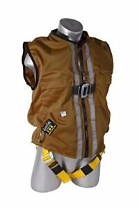 Guardian Fall Protection 02245 Brown Duck Mesh Construction Tux Harness Xxl