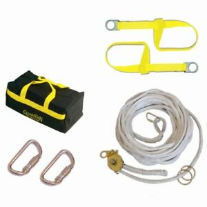 Guardian Fall Protection 04625 Polyester Horizontal Lifeline System With Tens