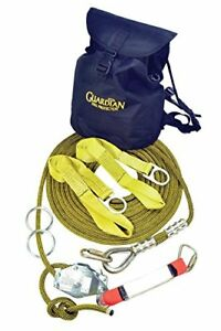 Guardian Fall Protection 04640 Kernmantle Horizontal Lifeline System With Ten