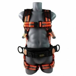 Guardian Fall Protection 21061 Cyclone Construction Harness Black orange Sew