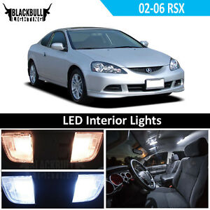 White Led Interior Light Accessories Kit Map Dome For 2002 2006 Acura Rsx 6 Bulb