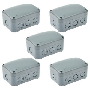 5 Pack Ip66 Waterproof Junction Box Outdoor Underground Cable Protection New