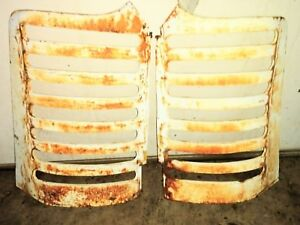 Oliver Tractor Front Nose Cone Grill Right Left 77 Set Grills Parts