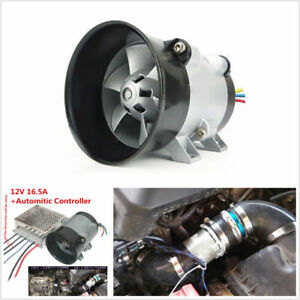 12v 16 5a Car Electric Turbine Power Turbo Charger Bold Lines With Controller