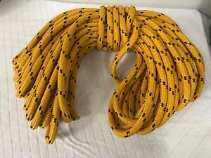 Double Braid Polyester 3 4 X120 Feet Arborist Rigging Tree Bull Rope Gold black