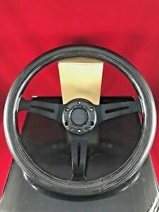 Real Carbon Fiber Deep Dish Steering Wheel W Black Face 350mm Stw 35bfch