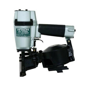 Hitachi 16 Degree 1 3 4 Coil Roofing Nailer Nv45ab2 Reconditioned