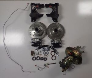 1965 1970 Impala Front Power Disc Brake Conversion 2 Inch Drop Spindles