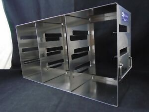 E k Eco 342 Stainless Steel 12 place 2 Box Side Access Upright Freezer Rack