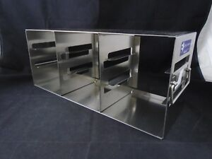 E k Eco 332 Stainless Steel 9 place 2 Box Side Access Upright Freezer Rack