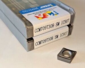 New 10 Pcs Iscar Ccmt 32 52 Ccmt 09t308 Grade Ic907 Coated Carbide Inserts