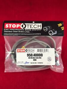 Stoptech Stainless Steel Front Brake Line 93 95 Honda Civic Ex Si 950 40000