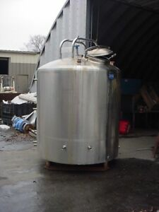 700 Gallon Sanitary Stainless Steel Jacketed Tank