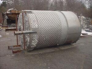 2000 Gallon Stainless Steel Jacketed Tank With Mixer
