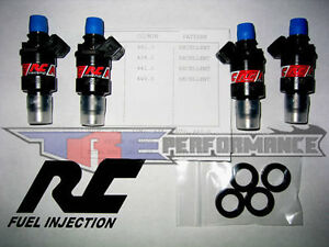 Rc 1000cc Flow Matched Fuel Injectors Honda B D Or H Series Engines B16 B18 B20