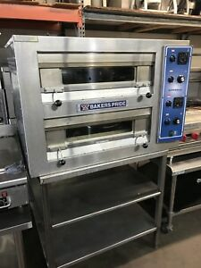 Bakers Pride Pizza Oven Deck Pretzels Bread Cookies Horno Bakery Restaurant Equi
