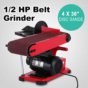 Electric Belt 6 Inch Disc Sander Bench 1420rpm Metalworking Wood Bench Grinder