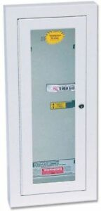 Kidde 468047 Potter Roemer Semi recessed 10 pound Fire Extinguisher Cabinet New