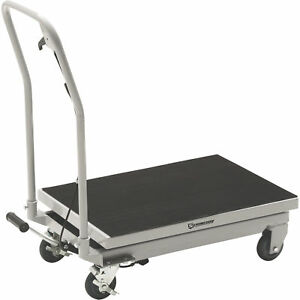 Strongway 2 speed Hydraulic Table Cart With Rapid Lift 500 lb Capacity