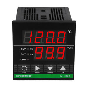 Mh0302 Digital Temperature And Humidity Controller Regulator Sensor Led Display