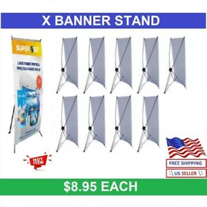 10 Pcs X Banner Stand 24 X 63 With Free Bag Wholesale Price