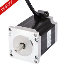 Dual Shaft Nema 23 Stepper Motor Bipolar 1 9nm 269oz in 2 8a 57x76mm 4 Wires