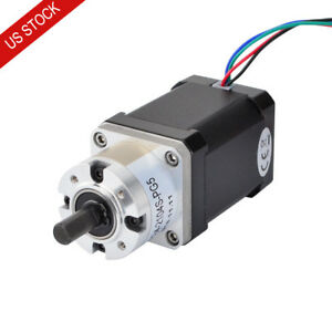 Us Ship Nema 17 Geared Stepper Motor 2 1a With 5 1 Planetary Gearbox 3d Printer