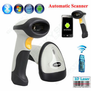 Wireless Bluetooth Barcode Scanner Code Reader For Android Iphone Ios Pc Wins