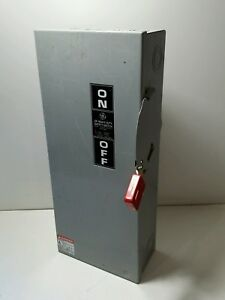 General Electric Ge 100 Amp Safety Switch Th3363 600vac