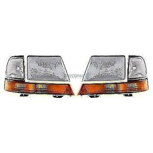 New Left Right Headlight Corner Light Package Fits 1999 2000 Ford Ranger