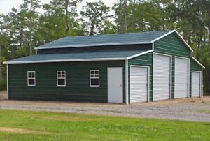 Metal Barn 44x31 A frame Steel Building 4 Car Garage Agricultural Free Install