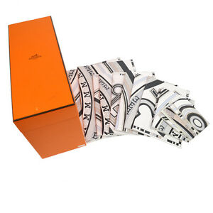 Authentic Hermes Vintage Notepad Graffiti Book Stationery Gray With Box Bt13745