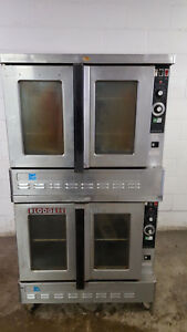Blodgett Zephaire ge Natural Gas Double Stack Convection Oven Tested 115v 1 Ph