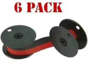 New Compatible Nukote Br80c Calculator Ribbon Black red 6 pack