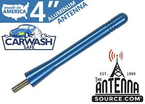 Short 4 Aluminum Blue Antenna Mast Fits 1995 2005 Hyundai Accent
