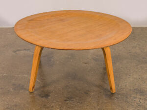 Vintage Eames Molded Coffee Table Wood Base
