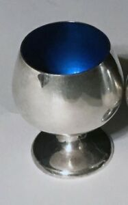 Gorham Sterling Silver And Blue Enamel Cordials A Pair