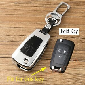 Fit For Chevrolet Cruze Sonic Aveo 3 Buttons Accessories Key Case Fob Bag Chain