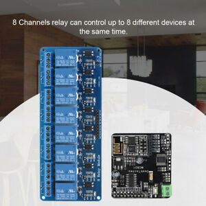 8 ch Relay Pcb Board Module W Wifi Network Io Remote Controller For Arduino Es
