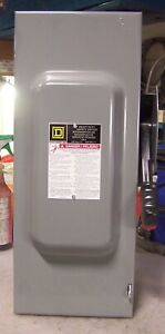 New Square D 100 Amp Fused Safety Switch 240 Vac 30 Hp 3 Phase H323n